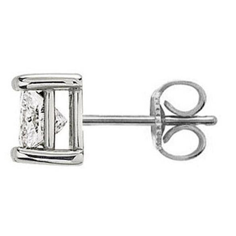 1.50 Ct. E Vvs1 Single Diamond Stud Men Earring Gold Single Stud