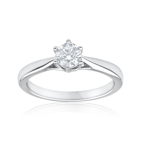 1.50 Ct Six Prong Set Round Cut Diamond Solitaire Wedding Ring Solitaire Ring