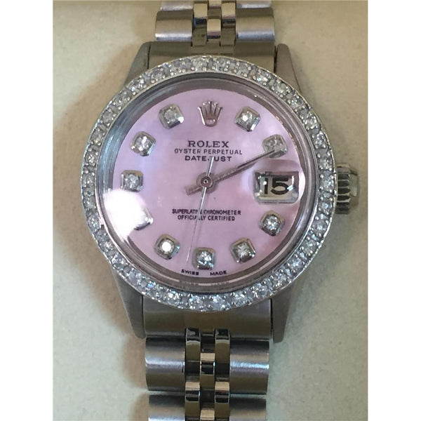 Watch Bezel Rolex Datejust Watch Mother Of Pearl Dial Diamond Bezel Ss
