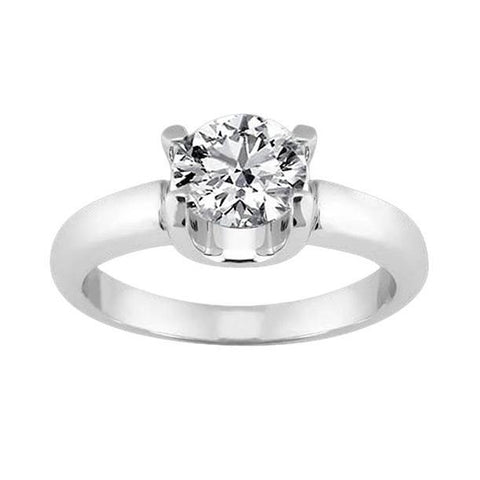 1.51 Carat Cushion Cut Diamond Solitaire Engagement Ring Solitaire Ring