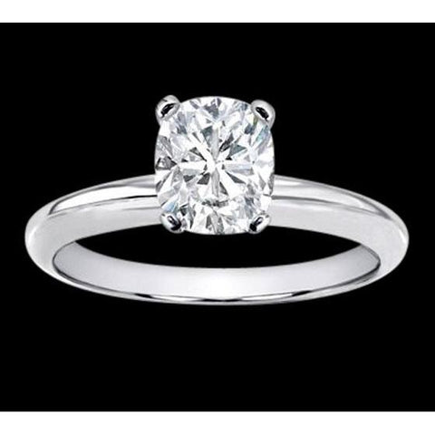 1.51 Carat Cushion Cut Solitaire Diamond Jewelry Ring Solitaire Ring