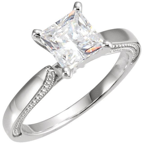 1.51 Carat Prong Setting Princess Diamond Solitaire Ring Solitaire Ring