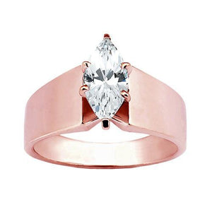 1.51 Ct. Diamond Solitaire Engagement Ring Rose Gold Engagement Ring