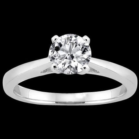 1.51 Ct Ring Gold H Si1Diamond Solitaire Ring Cathedral Setting Solitaire Ring