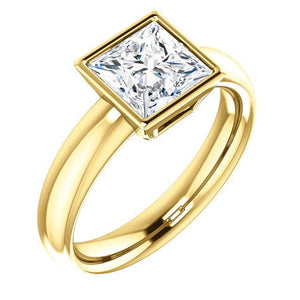 1.51 Ct. Sparkling Princess Diamond Solitaire Ring Solid Solitaire Ring