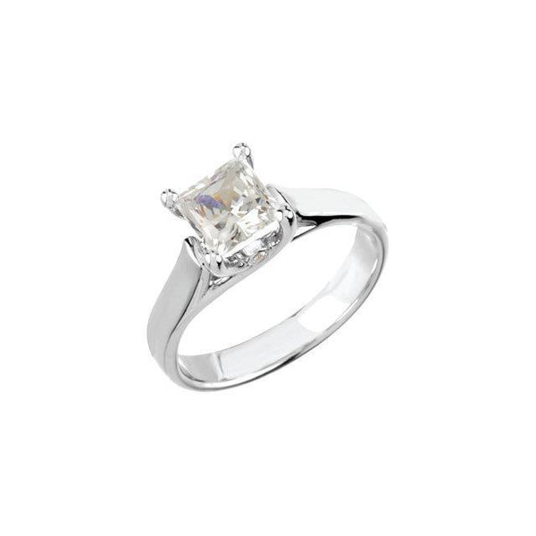 1.55 Carat Prong Setting Princess Diamond Solitaire Ring Solitaire Ring