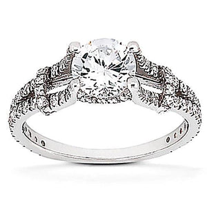 1.6 Ct. Diamond Solitaire With Accents Ring F Vvs1 Diamonds New Ring Solitaire Ring with Accents