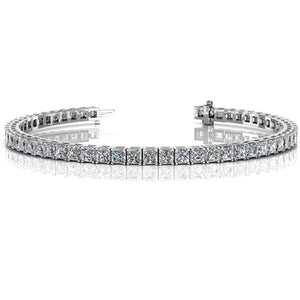 16 Ct Princess Cut Diamond Ladies Tennis Bracelet White Gold Jewelry Tennis Bracelet