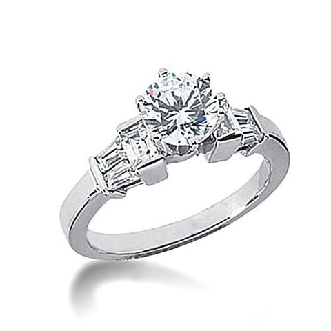 1.61 Carat Round Diamonds Engagement Ring Gold New Engagement Ring