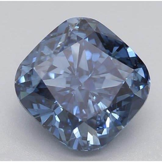 1.62 Ct Deep Blue Cushion Cut Loose Diamond Diamond