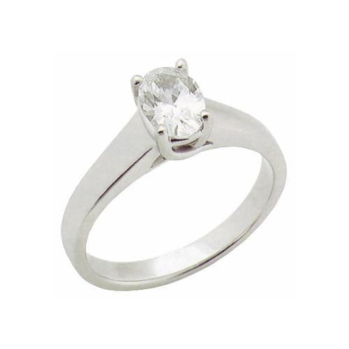 1.65 Carat Oval Cut Diamond Solitaire Ring White Gold Solitaire Ring