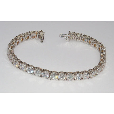 16.5 Ct Large Diamond Tennis Bracelet Vs Jewelry 38 Stones Tennis Bracelet