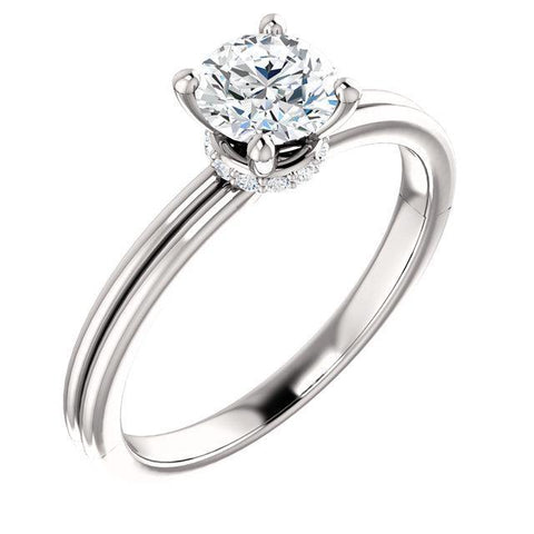 1.66 Carat Round Brilliant Diamonds Engagement Ring Engagement Ring