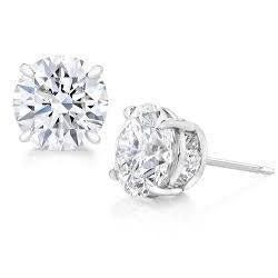 1.70 Carats Solitaire Diamond Studs Earring White Gold 14K Stud Earrings