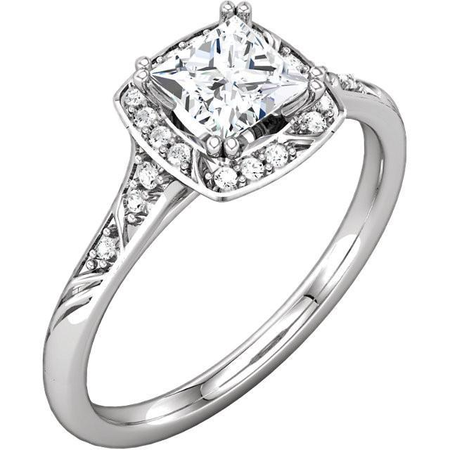 1.73 Carat Princess Diamond Engagement Anniversary Ring Solid White Gold 14K Anniversary Ring