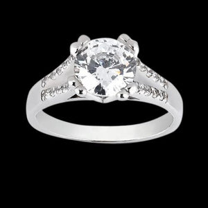 1.75 Carat Diamonds Engagement Ring Solitaire With Accents Gold Solitaire Ring with Accents
