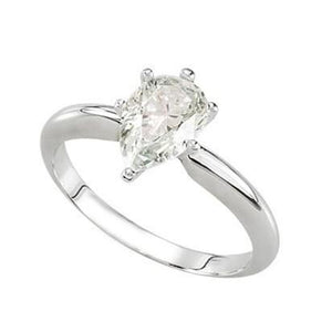 1.75 Carat F Vs1 Solitaire Diamond Engagement Ring 14K Gold White Solitaire Ring