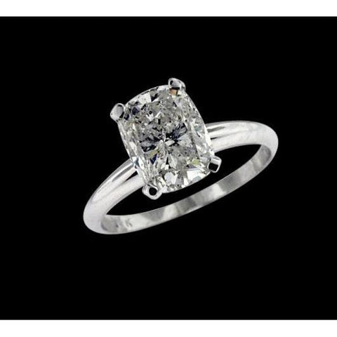 1.75 Carat Radiant Cut Diamond Solitaire Ring Gold Solitaire Ring