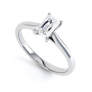 1.75 Carat Sparkling Emerald Cut Diamonds Solitaire Ring White Gold 14K Solitaire Ring