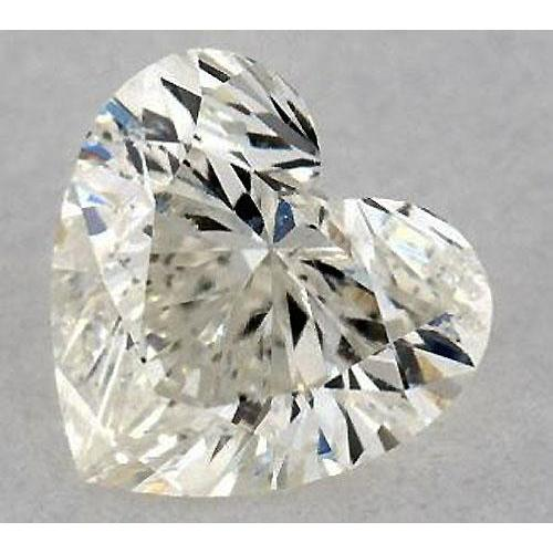 1.75 Carats Heart Diamond Loose F Si1 Good Cut Diamond