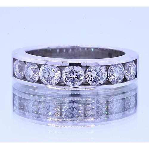 1.75 Carats Round Diamond Anniversary Band Channel Set Band