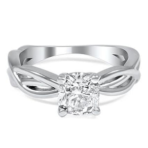 1.75 Ct Solitaire Cushion Cut Diamond Ring White Gold Solitaire Ring