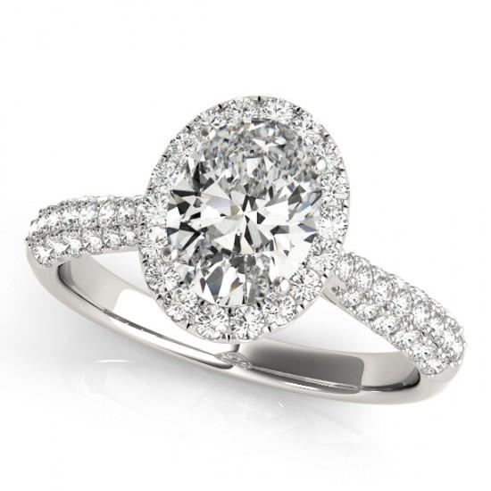 1.75 Cts. Halo Diamond Engagement Ring White Gold 14K Jewelry Men Women Halo Ring