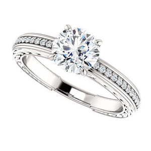 1.76 Ct. Solitaire With Accents Diamonds Wedding Ring Solitaire Ring with Accents