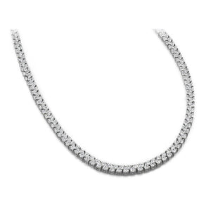 18 Carats Round Diamonds Womens Tennis Necklace White Gold 14K Necklace