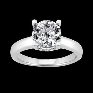 1.81 Carat Diamonds Engagement Ring Solitaire With Accents Gold Solitaire Ring with Accents