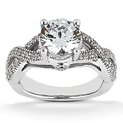 1.87 Carats Diamond Engagement Ring Round Cut Engagement Ring