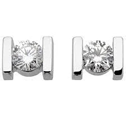 1 Carat Round Brilliant Cut Diamond Stud Women Earrings