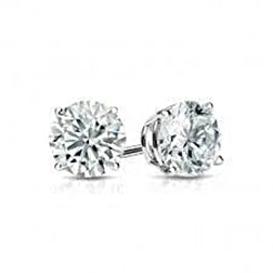 1 Carat Solitaire Round Diamond Stud Lady Earring