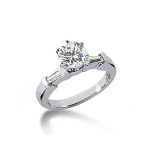 2 Carat Diamonds 3 Stone Engagement Ring White Gold Three Stone Ring