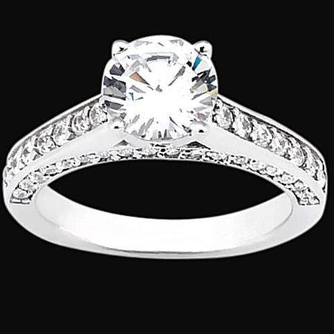 2 Carat Diamonds Ring Solitaire With Accents Jewelry Ring Solitaire Ring with Accents