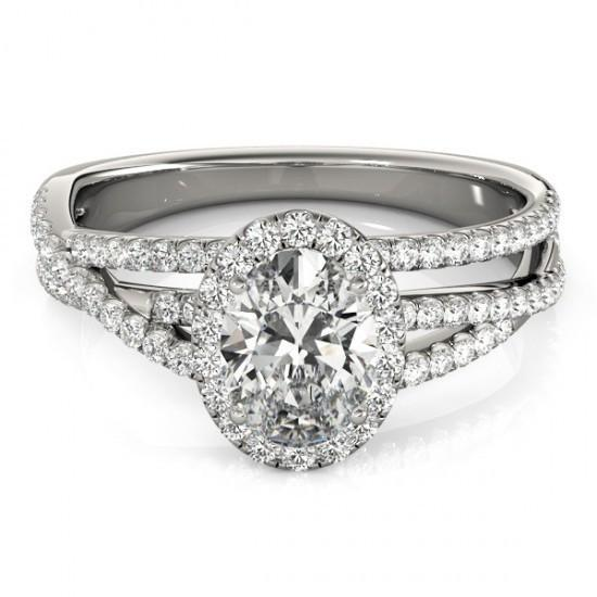 2 Carat Oval & Round Diamonds Fancy Ring Halo F Vvs1 Halo Ring
