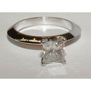 2 Carat Princess Diamond Solitaire Wedding Ring Gold Solitaire Ring