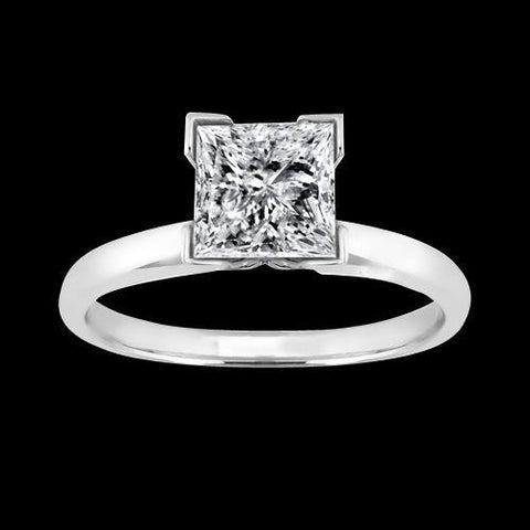 2 Carat Princess Diamond Solitaire Wedding Ring White Gold Solitaire Ring
