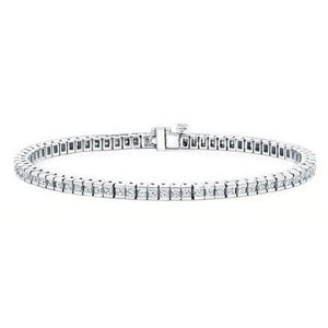 2 Carat Princess Diamonds Tennis Bracelet White Gold Tennis Bracelet