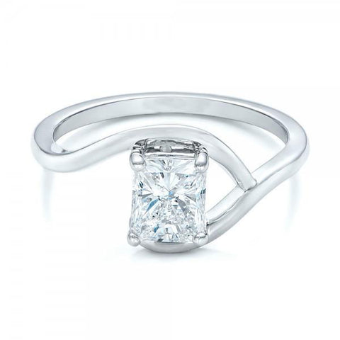 2 Carat Radiant Cut Solitaire Diamond Wedding Ring Solitaire Ring