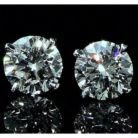 2 Carat Stud Diamond Earrings Stud Earrings