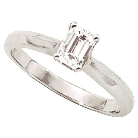 2 Carats Emerald Cut Diamond Solitaire Engagement Ring Solitaire Ring