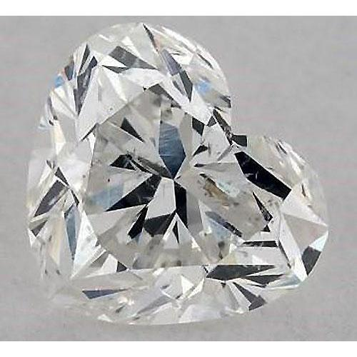 2 Carats Heart Diamond Loose F Si1 Good Cut Diamond