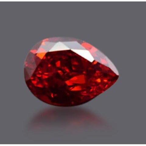 2 Carats Pear Cut Fancy Red Color Loose Diamond Diamond