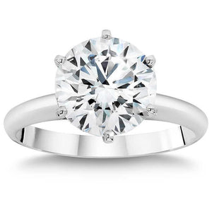 2 Carats Prong Set Round Diamond Solitaire Wedding Ring White Gold Solitaire Ring