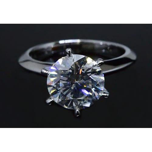2 Carats Round Diamond Solitaire Engagement Ring Vs1 F Solitaire Ring