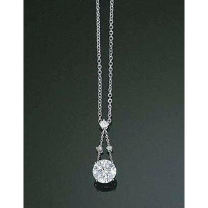 2 Carats Round Diamond White Gold Necklace Pendant Women Gold Jewelry Pendant