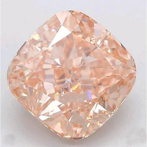 2 Ct Cushion Cut Orange Loose Diamond Diamond