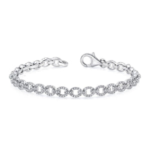 2 Ct Diamond Tennis Women Bracelet Tennis Bracelet