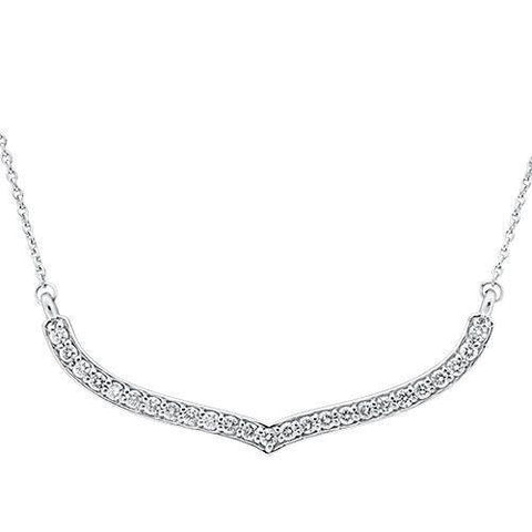 2 Ct Diamond Women Necklace 14K White Gold Necklace